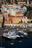 Harbor in Nice, France. View from Colline du chateau Royalty Free Stock Images