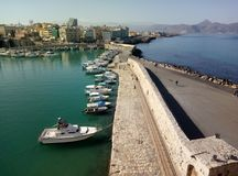 Harbor. Nice harbor in Heraklion city Royalty Free Stock Images