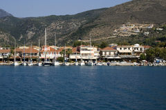 Harbor of Nidri in Lefkada, Greece. Stock Photo
