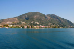 Harbor of Nidri in Lefkada, Greece. Royalty Free Stock Photography