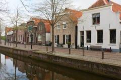 Harbor of Nieuwpoort, an old Dutch city Stock Photos