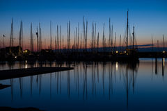 Harbor at night Royalty Free Stock Image