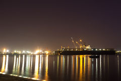 Harbor at night. Royalty Free Stock Photos