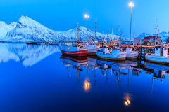 Harbor at night Royalty Free Stock Images