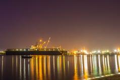 Harbor at night. Stock Photo