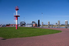 Harbor of norderney Stock Images