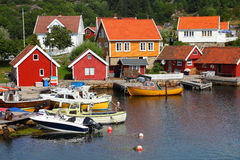 Harbor in Norway Royalty Free Stock Photo