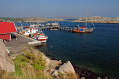 Harbor in Norway. Verdens Ende. Verdens Ende (World's End, or The End of the Earth) is located at the southernmost tip of the island of Tj?me in Vestfold, Norway Stock Image