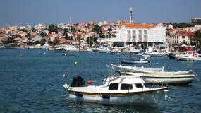 Harbor of Novalja stock photo