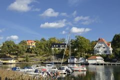 Harbor in Nynashamn Royalty Free Stock Photos