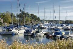 Harbor in Nynashamn Royalty Free Stock Photo