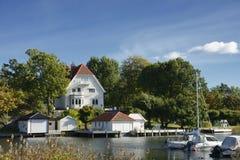 Harbor in Nynashamn Stock Images