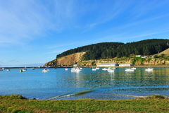 Harbor in Oamaru, New Zealand Royalty Free Stock Photo