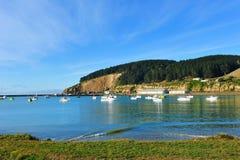 Harbor in Oamaru, New Zealand Royalty Free Stock Photo