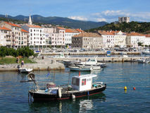 Harbor of the old part at Senj on Croatia Stock Photos