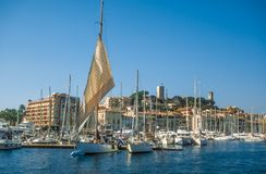 Harbor and old town of Cannes Royalty Free Stock Images