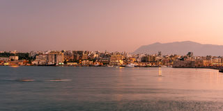 Harbor and Old Town of Heraklion, Crete, Greece Stock Photography