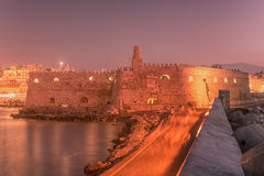 Harbor and Old Town of Heraklion, Crete, Greece Royalty Free Stock Image