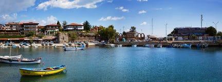 Harbor of the old town Nesebar royalty free stock photo