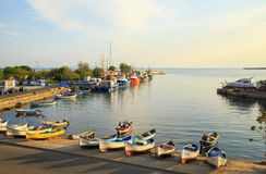 The harbor of the old town of Nessebar, Bulgaria Stock Photos