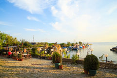 The harbor of the old town of Nessebar, Bulgaria Royalty Free Stock Photography