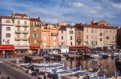 Harbor and old town of Saint Tropez Stock Image