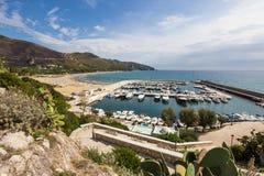Harbor of old town Sperlonga, Lazio, Italy Stock Photo