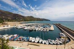 Harbor of old town Sperlonga, Lazio, Italy Stock Photography