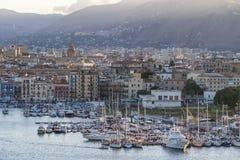 Harbor in Palermo, Sicily, Italy Stock Photo