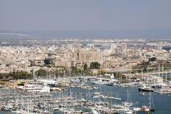 The harbor of Palma de Mallorca, Spain Stock Image