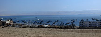 The Harbor of Paracas Stock Images