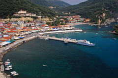 The harbor of Parga Greece Royalty Free Stock Photos