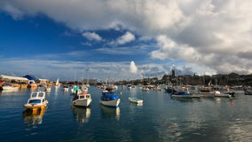 Harbor in Penzance, Cornwall. Royalty Free Stock Photo