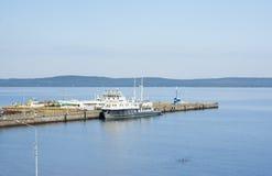 Harbor of Petrozavodsk, top view Stock Photos