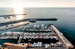 Harbor at Piano di Sorrento Stock Images