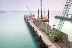 Harbor Pier under Construction Royalty Free Stock Image