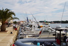 Harbor in Porec Royalty Free Stock Images