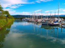 Harbor of Port Douglas stock photos
