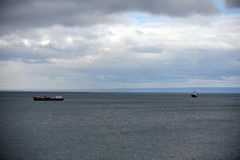 In the Harbor of port of Punta Arenas. Royalty Free Stock Images