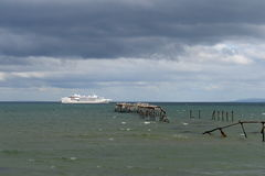 In the Harbor of port of Punta Arenas. Royalty Free Stock Photos