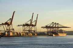 Harbor port shipping cargo stock photo