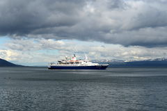 In the Harbor of the port of Ushuaia. Stock Photo