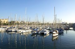 The harbor Port Vell Royalty Free Stock Photo