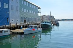Harbor, Portland Maine Stock Photos