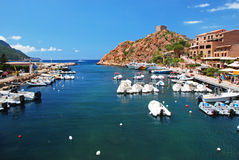 Harbor in Porto, Corsica Royalty Free Stock Images