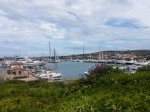 Harbor of Porto Rotondo, Italy. Harbor of Porto Rotondo at Costa Smeralda on the Italian island of Sardinia royalty free stock photo