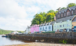 Harbor at Portree Isle of Skye. Colorful harbor at Portree, capital of the Isle of Skye, tourist destination on the island Stock Image