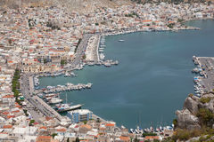 The harbor of Pothia, Kalymnos Royalty Free Stock Images