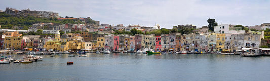 Harbor of Procida Stock Images