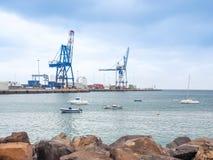 Harbor of Puerto del Rosario, Fuerteventura Stock Image